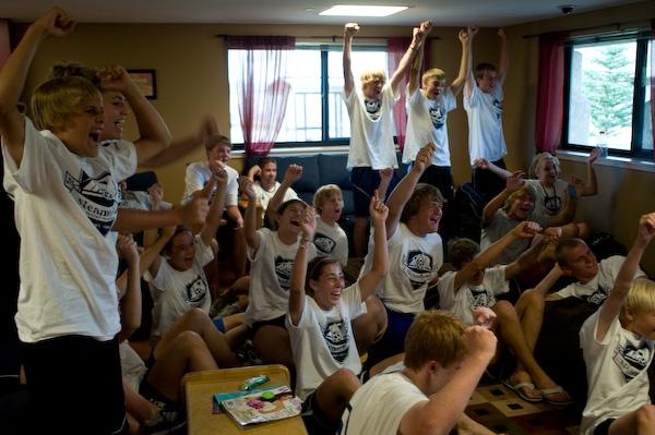 Students enjoying Steamboat Soccer Academy