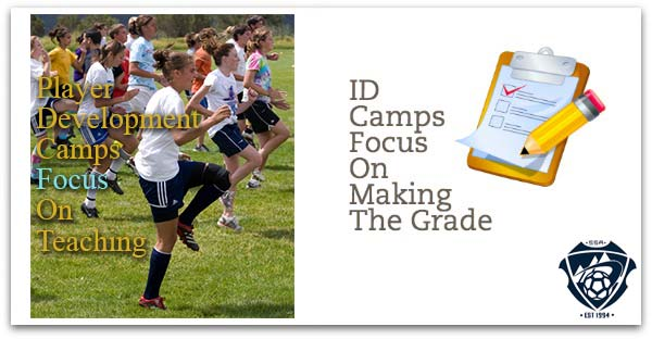 Player Soccer Development Camps vs College ID Camps