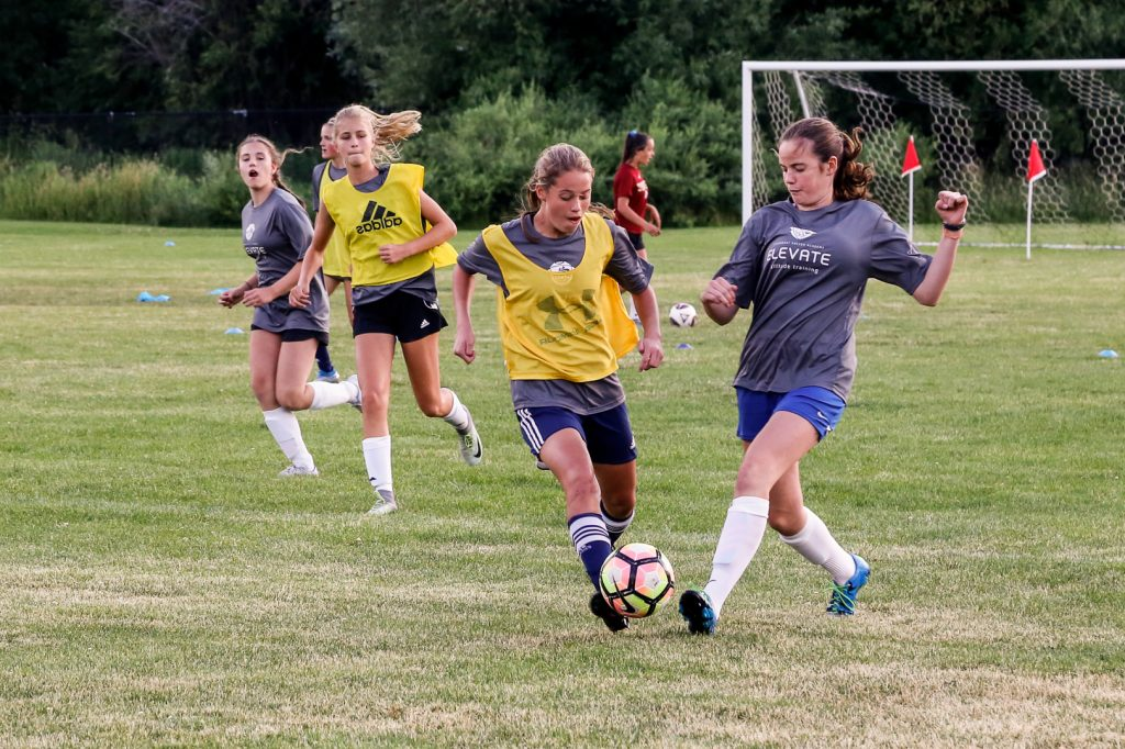 Girls Playing soccer at SSA
