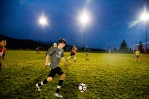 SSA 6-vs-6 Tournament under lights at Ski Town Fields